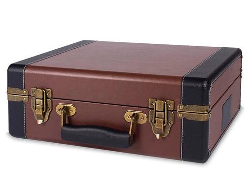 toca discos volare raveo gravação usb maleta retrô marrom