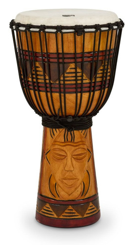 toca djembe origins series rope tuned wood 12tribal mask