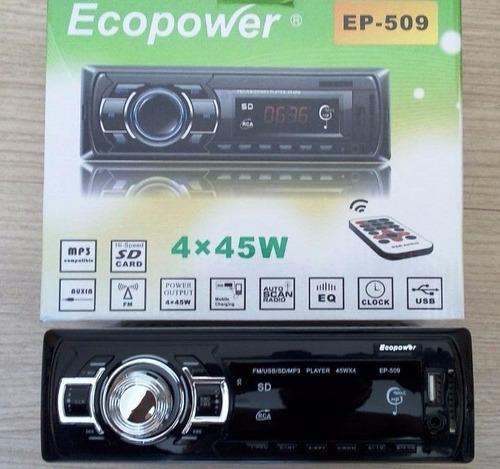 toca radio ecopower usb - fm controle remoto