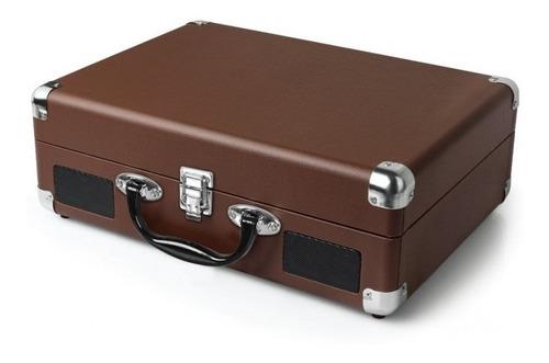 tocadisco 3 velocidades con maleta café