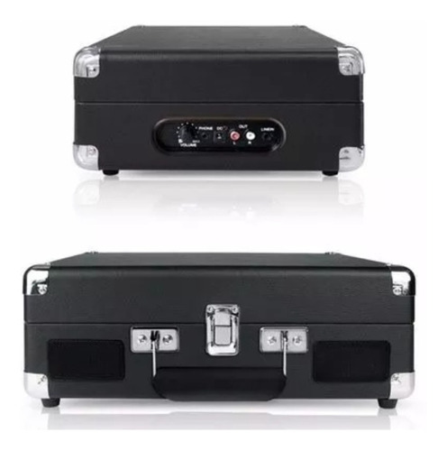 tocadisco 3 velocidades maleta cuero negro parlantes r4700