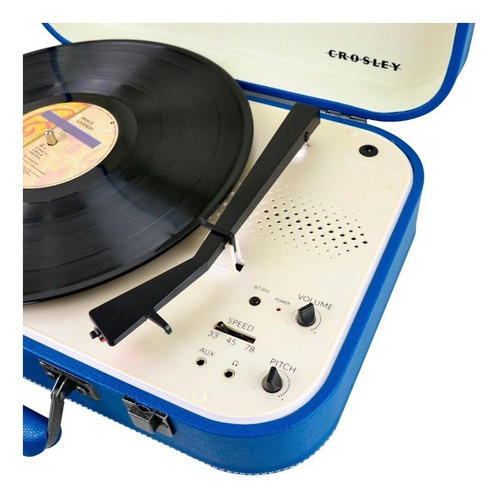 tocadisco crosley bluetooh coupe azul cr6026abl
