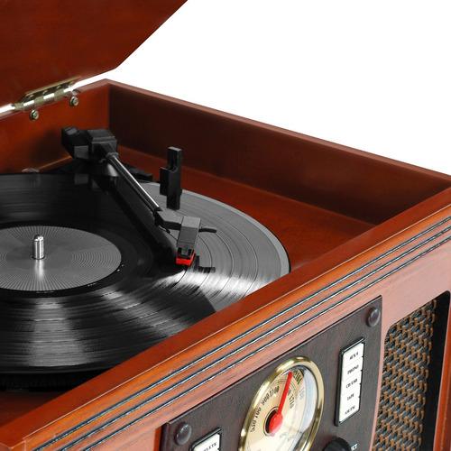 tocadiscos 8 en 1 bluetooth cd mp3 control remoto usb