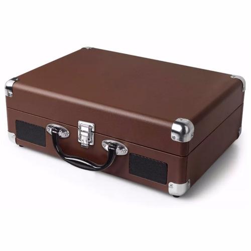 tocadiscos cafe 3 velocidades parlante y maleta /r4703