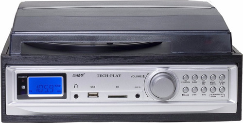 tocadiscos con cassette mp3 usb and sd incluye parlantes usa
