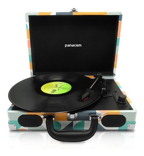 tocadiscos panacom lp8804 geometrc bt usb sd bat.recargable