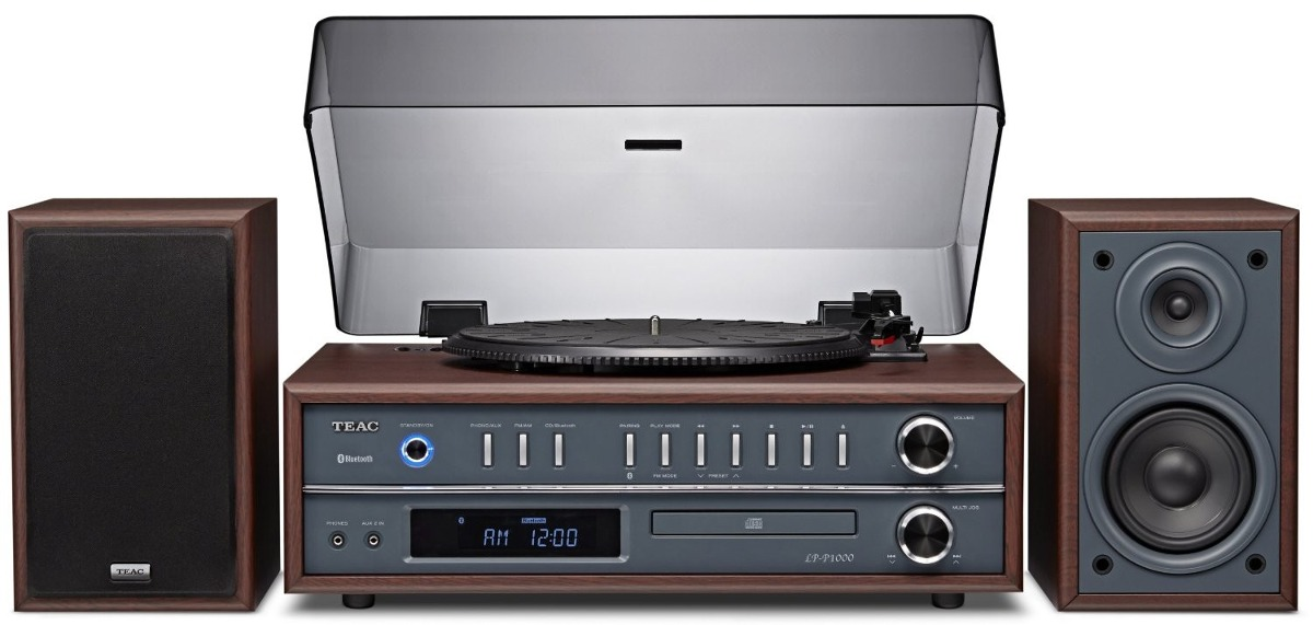 Tocadiscos Teac Lp P1000 Turntable Stereo System Cd Bt