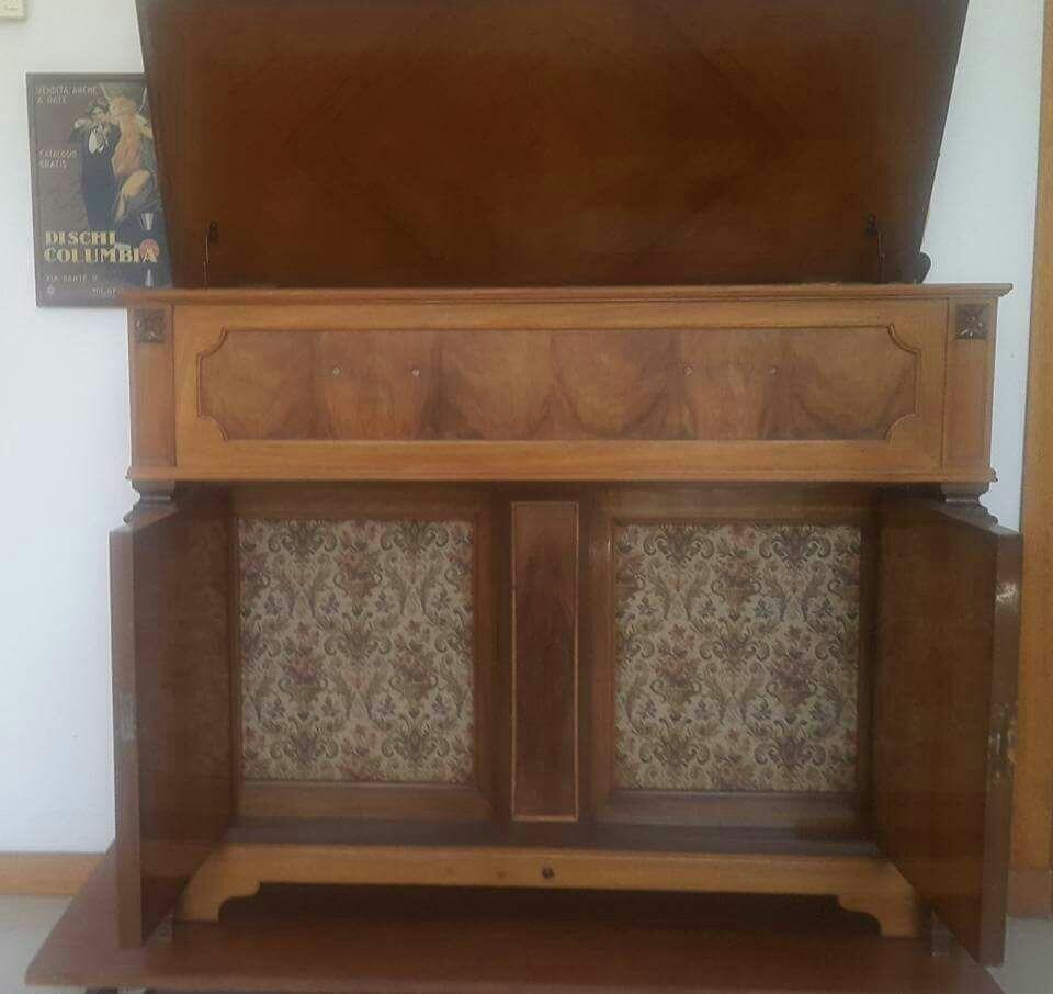 Tocadiscos Vintage Con Mueble Integrado 8 100 00 En Mercado Libre # Muebles Tocadiscos