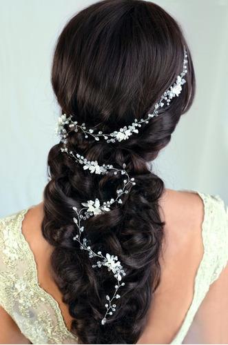 tocado guía para peinado, trenzas novia / 15 años - 50cm