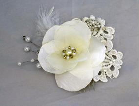 fd29c45a8c Tocado Novia Ivory Flor Chico Vintage Encage