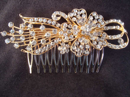 tocado strass novia madrina fiesta peinado peineta tiara 15