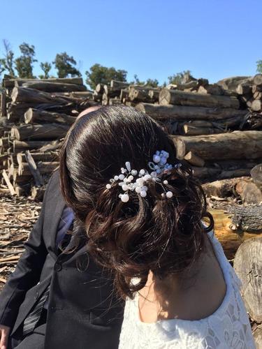 tocado - tiara  de novia ideal peinado casamiento o 15 años
