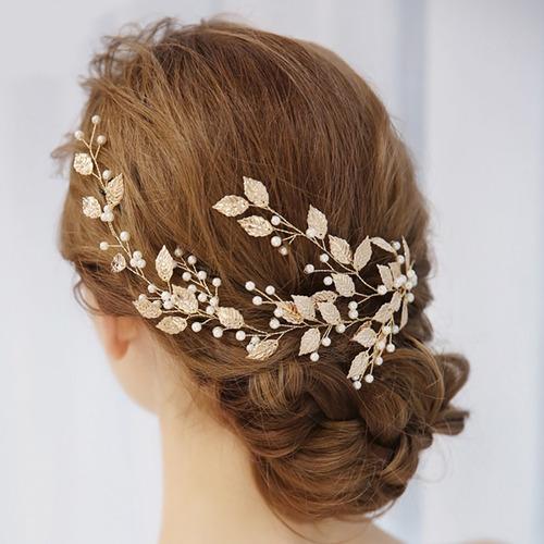 tocado tiara peineta corona hojas perlas  comunión novia xv