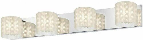 tocador de 4 luces de cromo claro, arenado, arena y cuentas