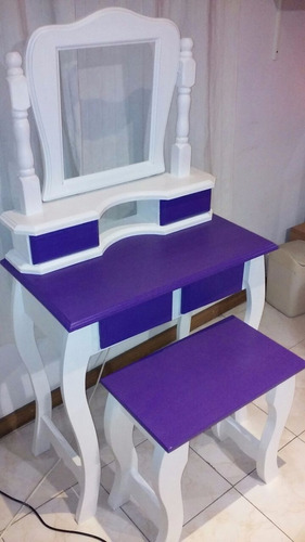 ¡tocador escritorio con banqueta y espejo! |color a elección