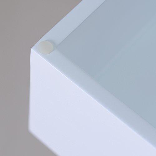 tocador facilehome con espejo y 2 cajones de color blanco.