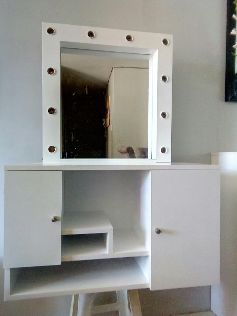 Tocador flotante con espejo hollywood s 540 00 en - Tocador con espejo ...