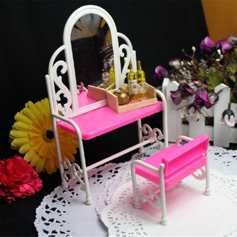 Tocador Y Silla Para Barbie Nuevo 350 00 En Mercado Libre