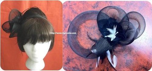 tocados para peinados con plumas