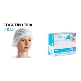 Tocas Descartables Tipo Tira - R & G Cofia 100 Unid