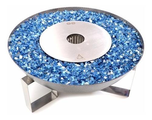 tocha - 59cm - cristais azul calvert