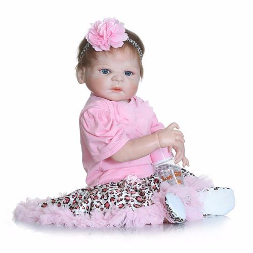 toda em vinil siliconado bebe boneca reborn victoria 57 cm