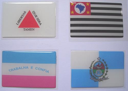 todas as bandeiras da região sudeste do brasil 6x4cm - bre