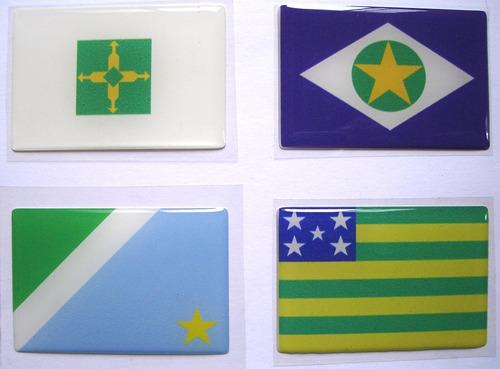 todas bandeiras da região centro oeste do brasil 6x4cm - bre