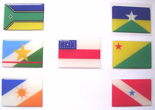 todas bandeiras da região norte do brasil 6x4cm - bre