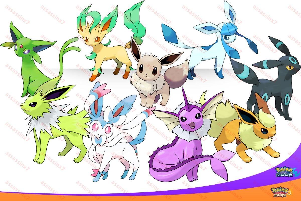 Todas Las Evoluciones De Eevee Pokemon Ultra Sol Luna S