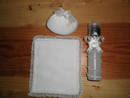 todo bautismo vestido ropon bautizo plisado y kit vela