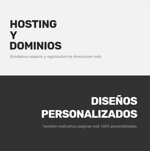 todo incluido pagina web hosting dominio diseño web