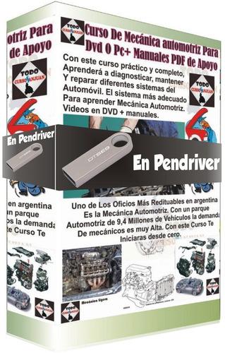 todo mecánica automotriz + regalo curso en video (pendriver)