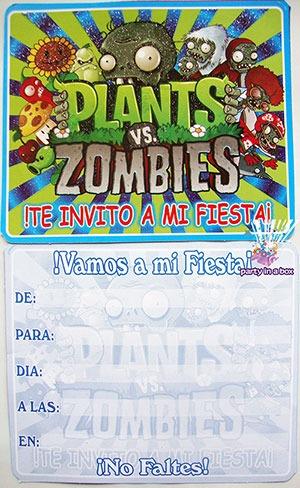 Todo Para Tu Fiesta De Plants Vs Zombies Mantel Invitación