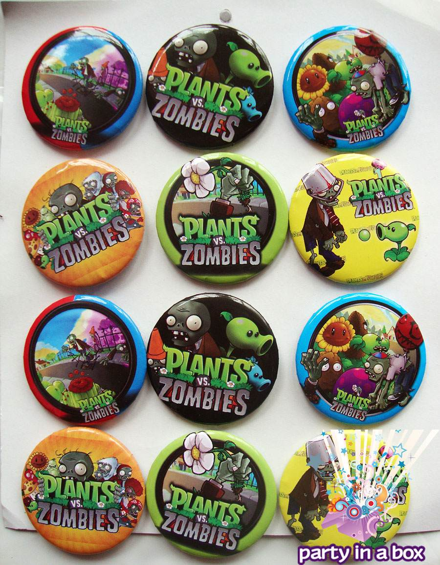 Todo para tu fiesta de plants vs zombies platos vasos y for Cuartos decorados de plants vs zombies