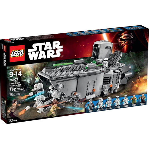 todobloques lego 75103 star wars first order transporter!