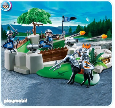 todobloques playmobil 4014 superset caballeros halcon,