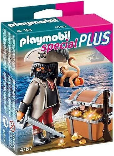 todobloques playmobil 4767 pirata con cofre del tesoro