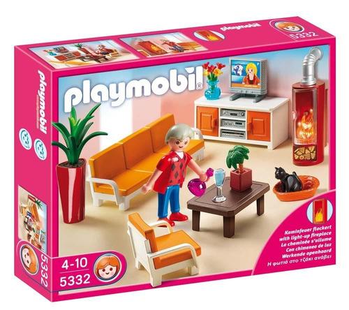 todobloques playmobil 5332 casa de muñecas sala de estar