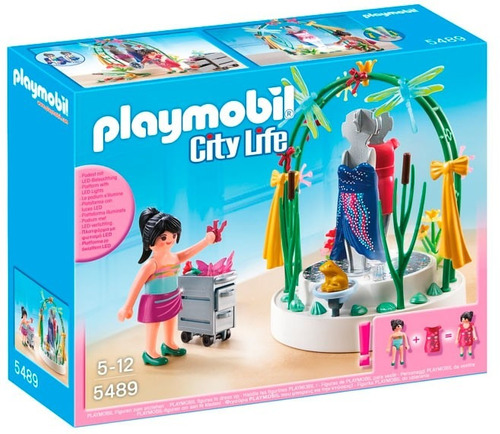 todobloques playmobil 5489 decoradora con pedestal led