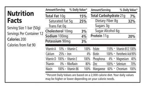 todos los sabores, stabilyze baja glucémico nutrición bar 12
