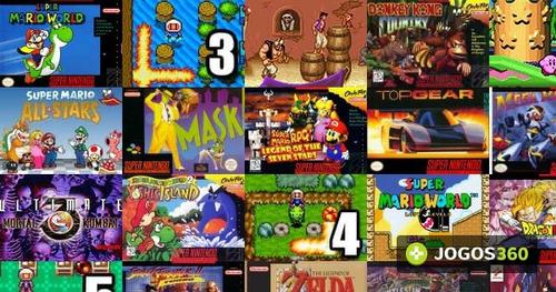 todos os jogos do nintendo 64 , super nintendo e ps1