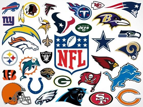 393449d4b Todos Time Nfl Liga Nacional Futebol Americano Valor Por Und - R  9 ...