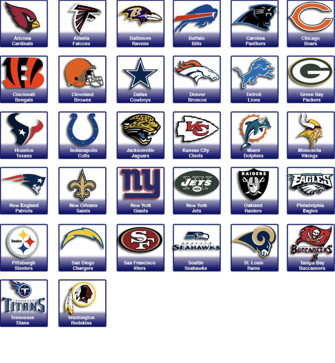 1ca21326a todos time nfl liga nacional futebol americano valor por und. Carregando  zoom.