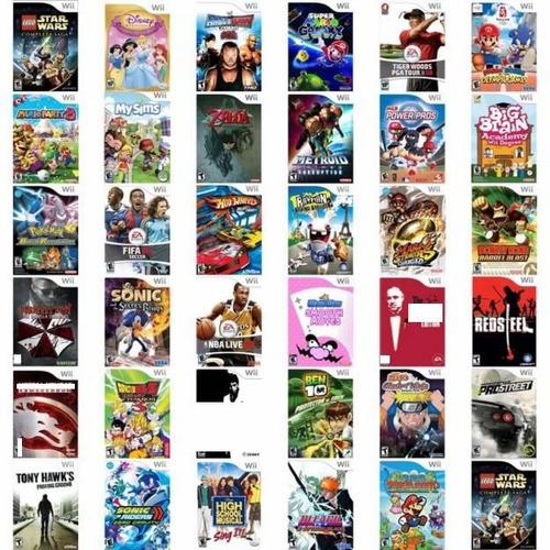 todos titulos video juego nintendo wii fìsico dvd calidad