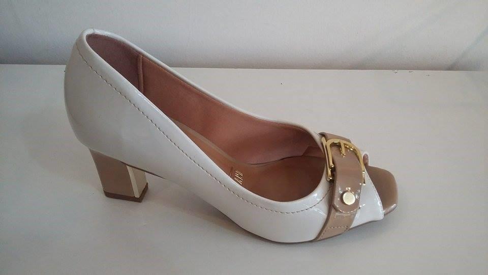 5f313d54d Sapato Peep Toe Vizzano Salto Baixo Vizzano 1818.209 - R$ 129,90 em ...