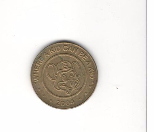 token de la franquicia chuck e cheese´s (2004)