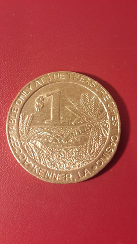 token one dollar, treasure chest, mt174