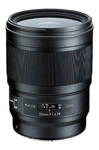 tokina opera 50mm f/1.4 ff lente nikon f _8