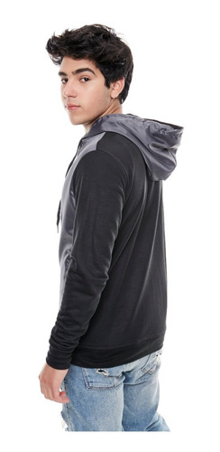 tokyo camperas hombre campera algodon combinada #3024 gris